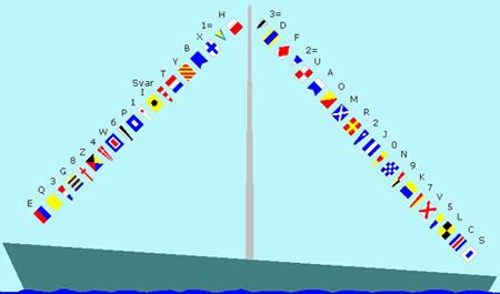 Festlig flagning